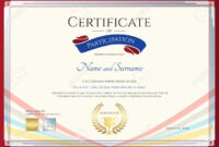Participation Certificate Template – Zimer.bwong.co within Templates For Certificates Of Participation