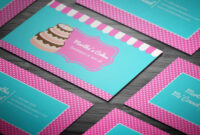 Party Cake Themed Bakery Business Card – Full Preview Inside Cake Business Cards Templates Free