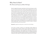 Pdf) Why Does It Hurt?: The Perceived Causes Of Hurt Feelings. with Hurt Feelings Report Template