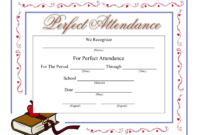Perfect Attendance Certificate – Download A Free Template within Perfect Attendance Certificate Template