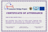 Perfect Attendance Certificate Templates Free Download regarding Perfect Attendance Certificate Template