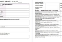 Performance Appraisal Form Template | Financial Analysis with Template For Evaluation Report
