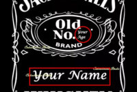Personalised Edible Icing Sheet Jack Daniels Label Cake pertaining to Blank Jack Daniels Label Template