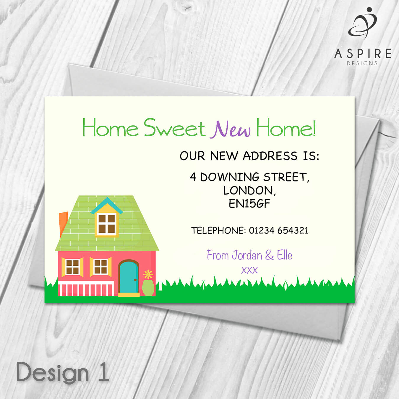 Personalised Home Sweet Home Change Of Address Cards Intended For Free Moving House Cards Templates