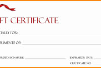 Personalized Gift Certificate Template – Zimer.bwong.co In Gift Certificate Template Indesign