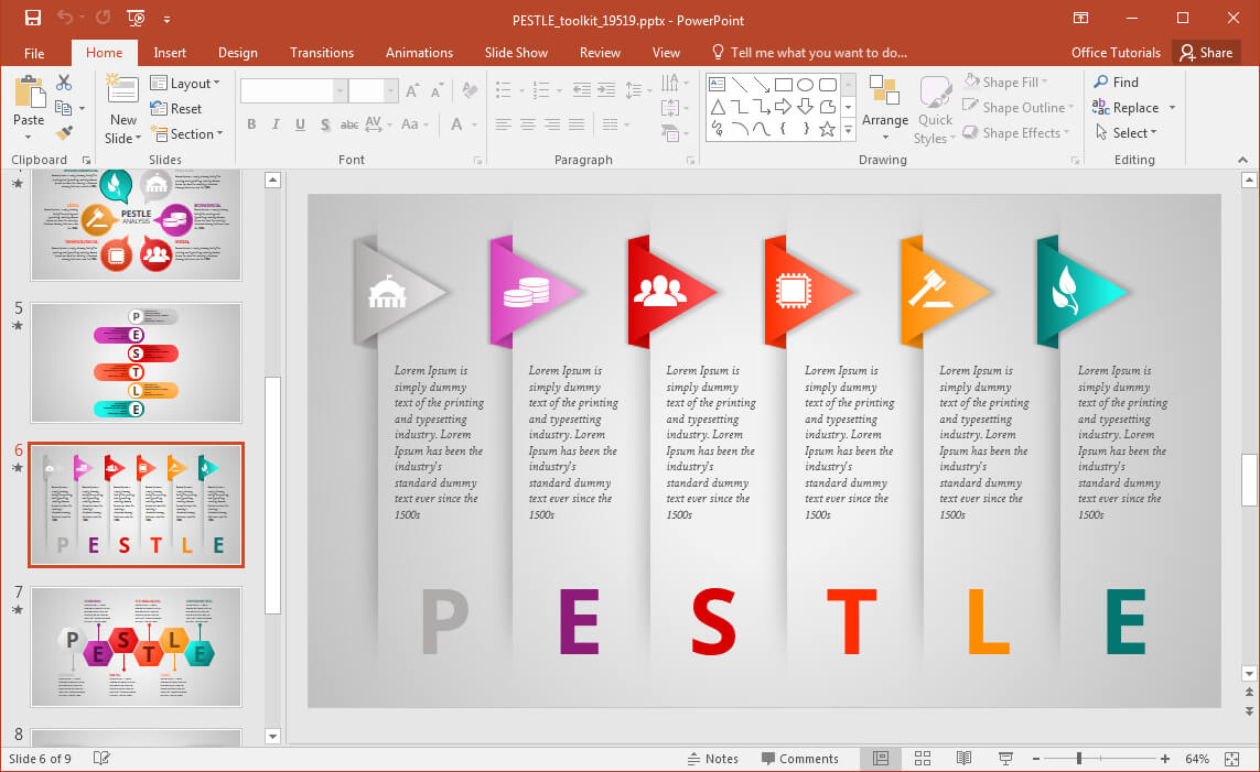 Pestel Toolkit For Powerpoint Presentations - Fppt Pertaining To What Is Template In Powerpoint