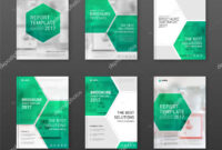 Pharmaceutical Brochure Cover Templates Set. — Stock Vector inside Pharmacy Brochure Template Free