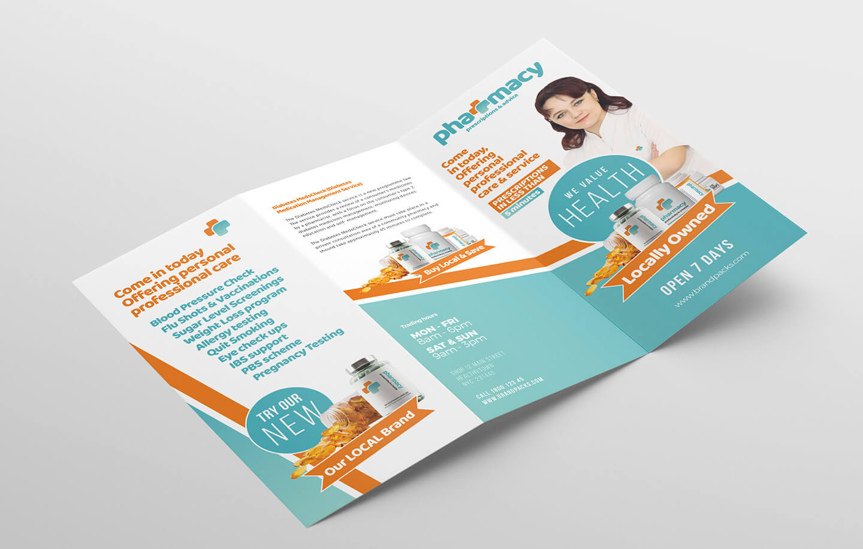 Pharmacy Tri Fold Brochure Template - Psd, Ai & Vector Pertaining To Pharmacy Brochure Template Free