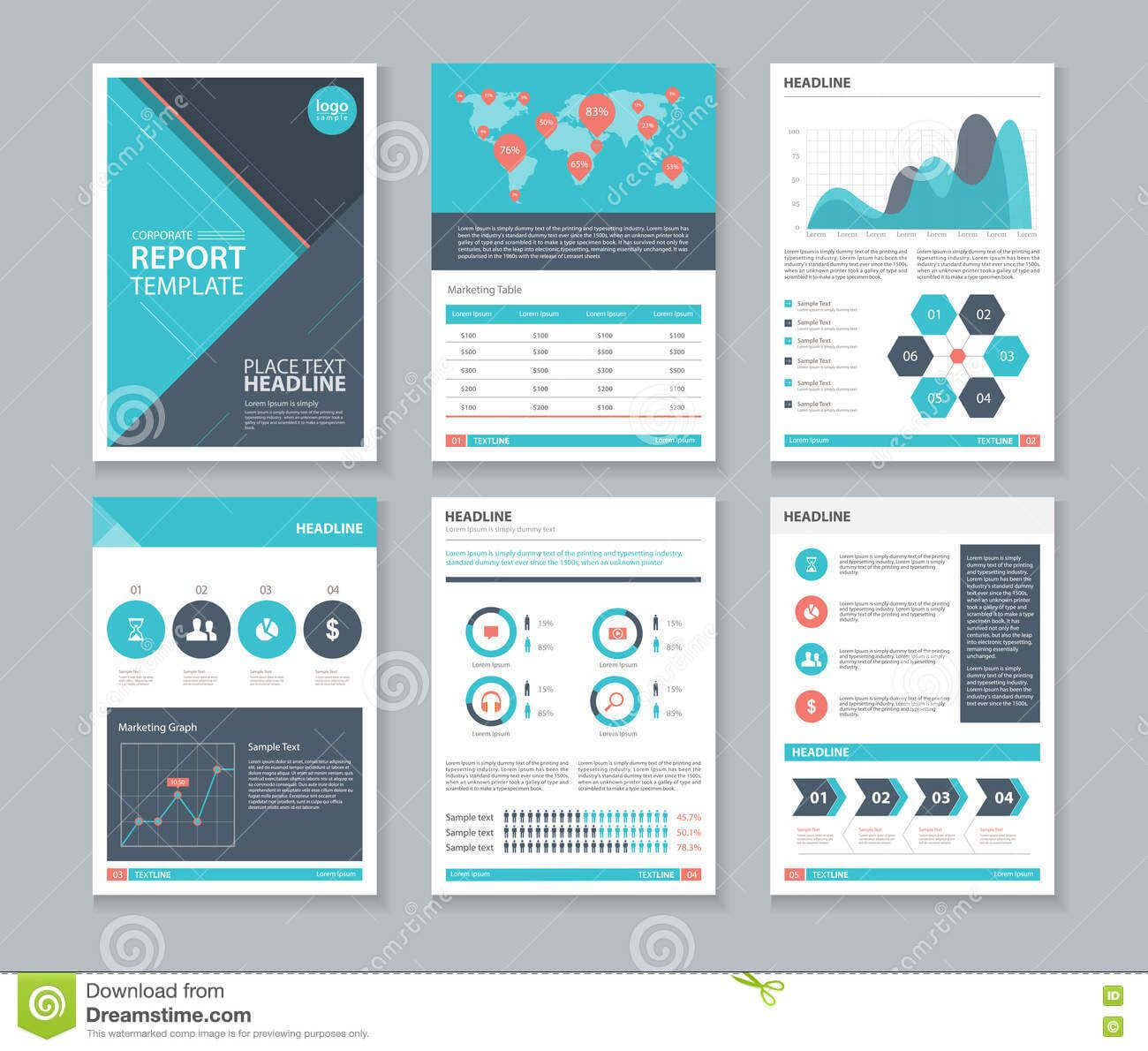 Photo About Page Layout Design Template, For Brochure Flyer With Illustrator Report Templates