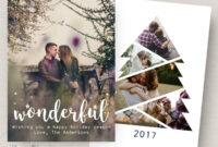 Photo Christmas Card Template, Christmas Tree Card Template within Christmas Photo Card Templates Photoshop