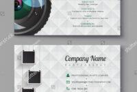 Photographer Business Card Template Design Photography Stock Regarding Photographer Id Card Template