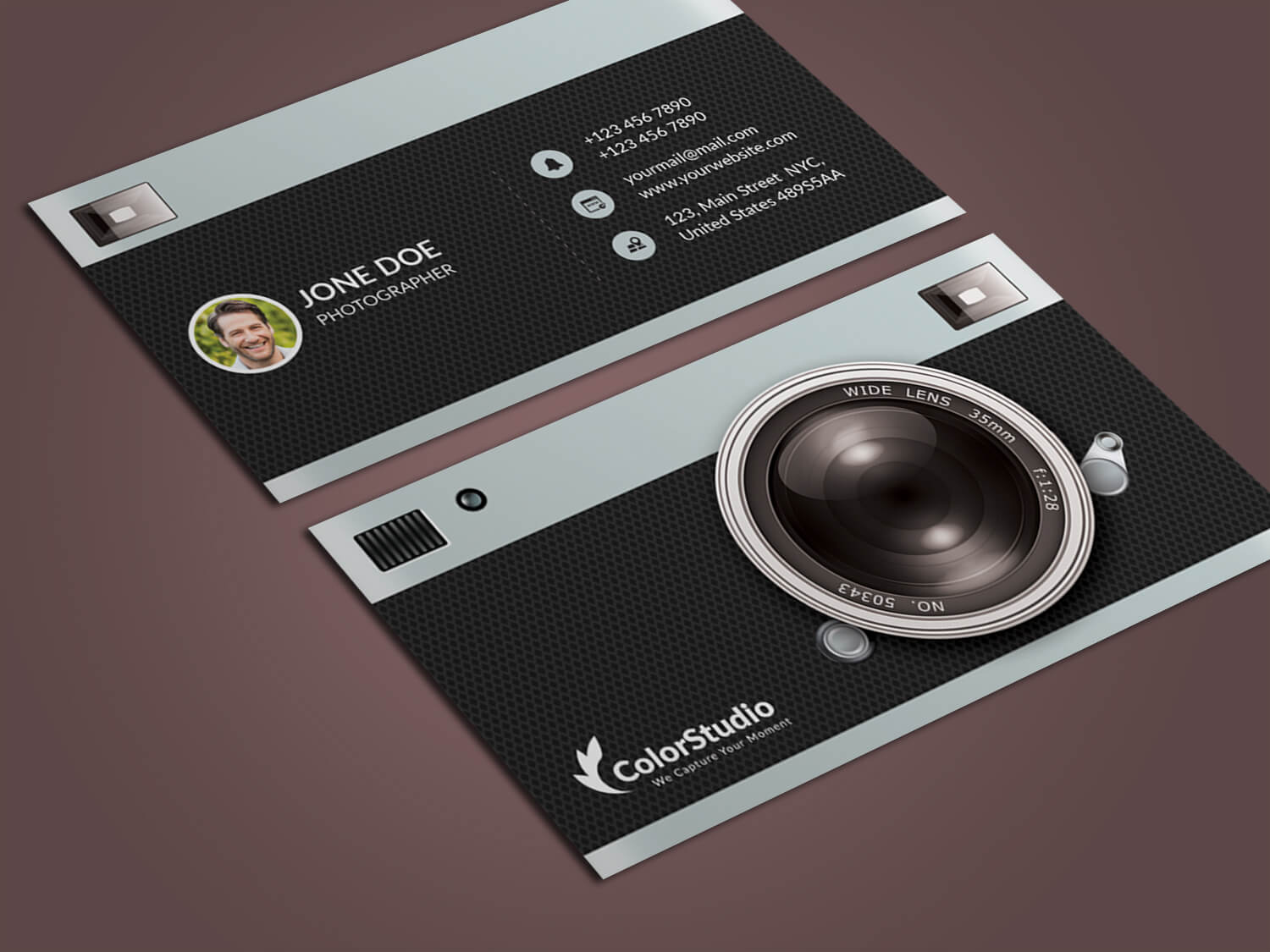 Photography Business Card Template Psd – Free Graphics In Photography Business Card Templates Free Download