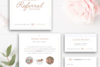 Photography Referral Card – Photoshop Template – Referral inside Photography Referral Card Templates