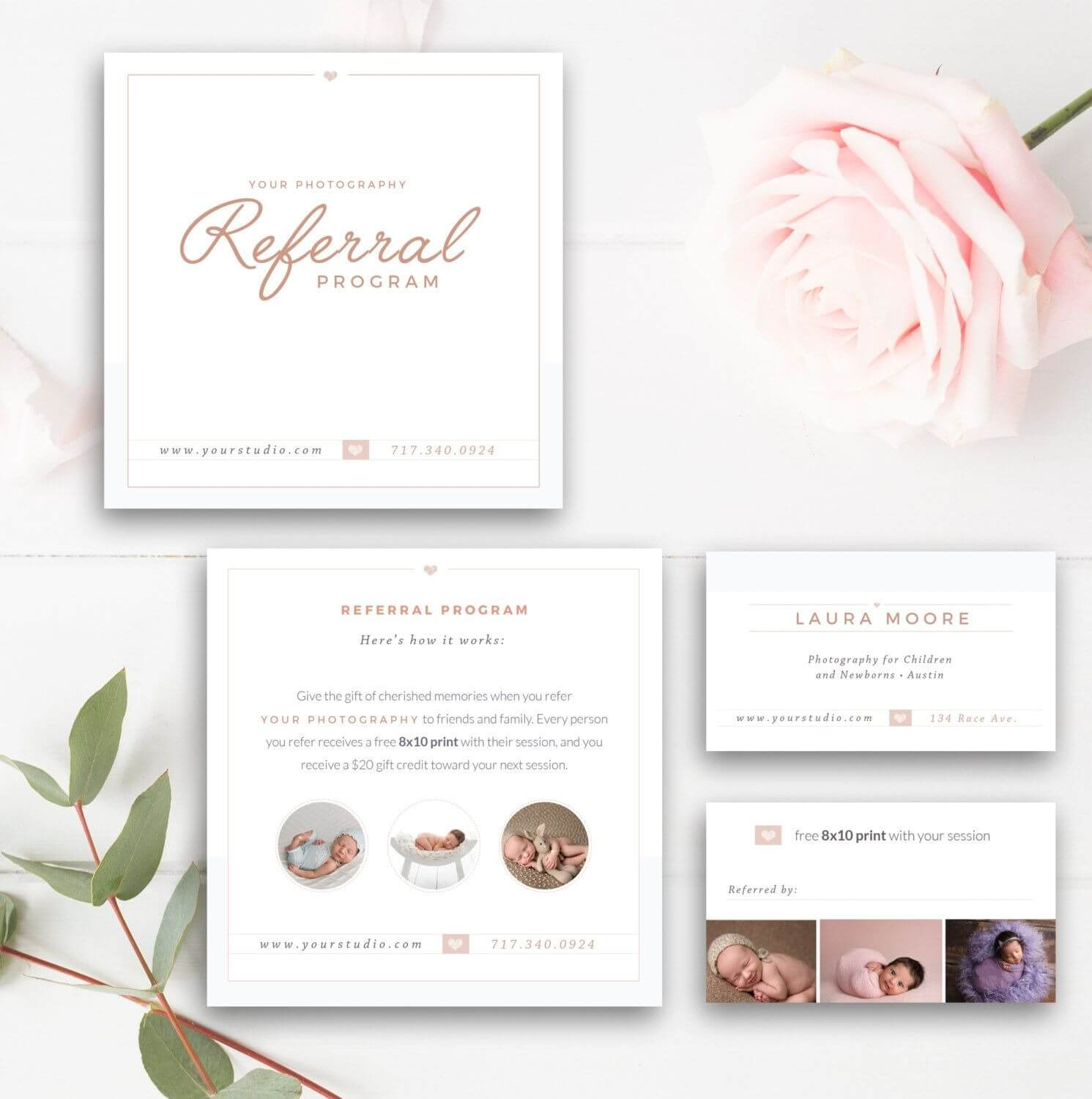 Photography Referral Card – Photoshop Template – Referral Intended For Referral Card Template Free