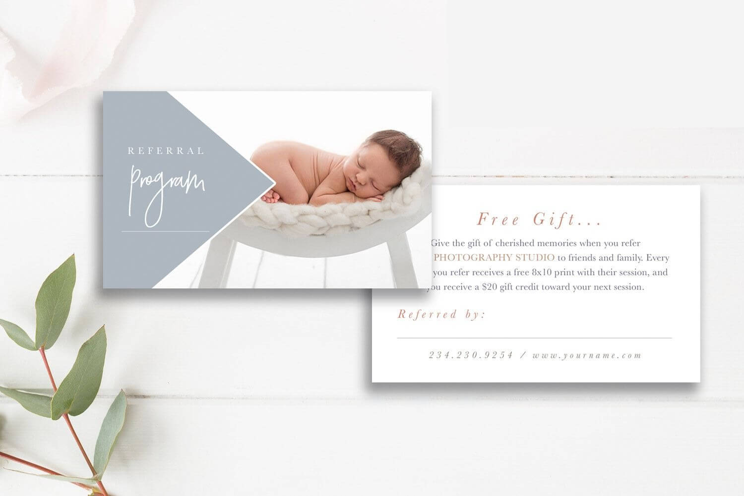 Photography Referral Card Template, Referral Program With Regard To Referral Card Template Free