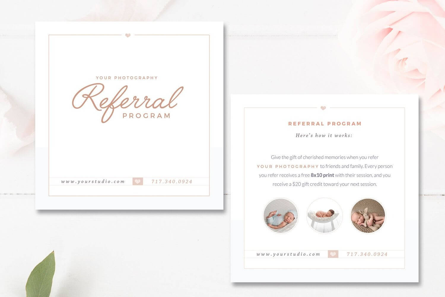Photography Referral Card Templates, Referral Program Inside Referral Card Template Free