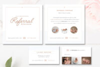 Photography Referral Card Templates, Referral Program with Referral Card Template