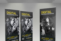 Photography Roll-Up Banner Graphics, Designs & Templates within Photography Banner Template