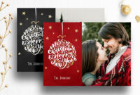 Photoshop Christmas Card Template For Photographers – 012 in Free Photoshop Christmas Card Templates For Photographers