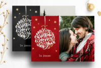 Photoshop Christmas Card Template For Photographers – 012 with Holiday Card Templates For Photographers