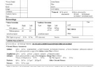 Physical Examination Form Filled Out – Zimer.bwong.co throughout History And Physical Template Word