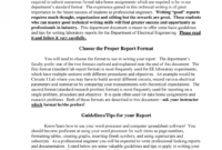 Physics Lab Report Format Example High School Measurement inside Lab Report Template Word