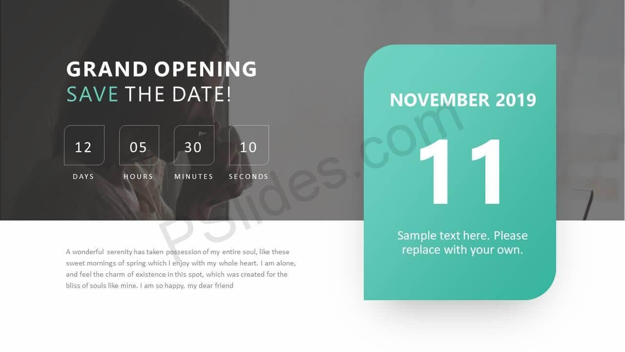 Pin About Save The Date On Powerpoint Diagrams Regarding Save The Date Powerpoint Template