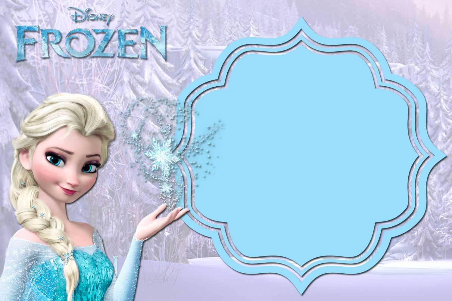 Pin On Birthdays In Frozen Birthday Card Template
