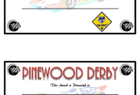 Pin On Cub Scouts within Pinewood Derby Certificate Template