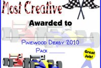 Pin On Do Your Best! Cub Scouts with Pinewood Derby Certificate Template