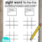 Pin On Ela regarding Tic Tac Toe Template Word