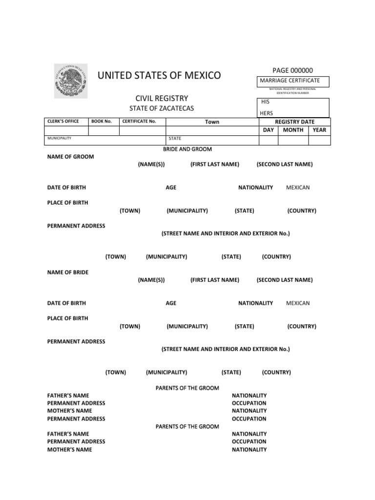 Pin On Google Doc Spreadsheet Template Sample With Mexican Marriage Certificate Translation Template