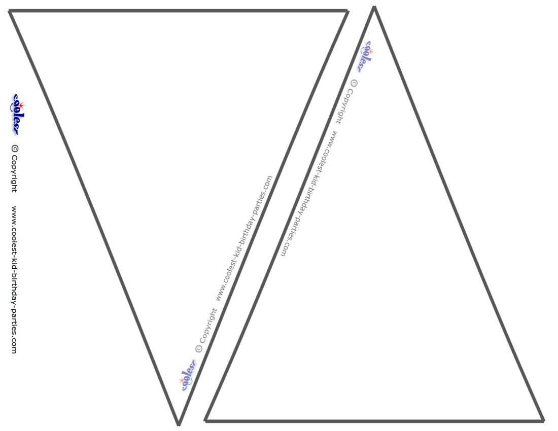 Pin On Miss Chandler's Class Pertaining To Triangle Pennant Banner Template