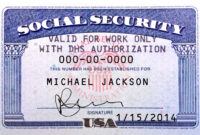 Pin On Novelty Psd Usa Ssn Template for Social Security Card Template Psd