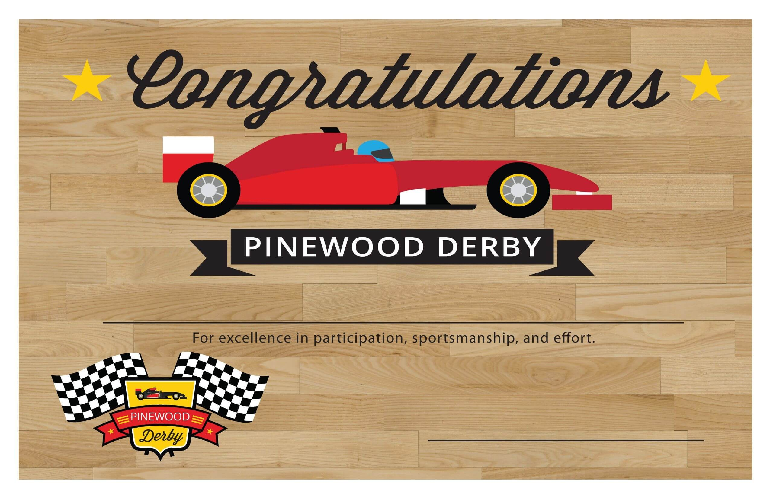 Pin On Pinewood Derby Intended For Pinewood Derby Certificate Template