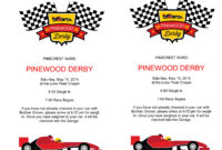 Pin On Scouts for Pinewood Derby Certificate Template
