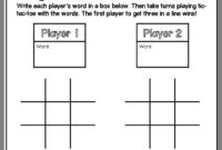 Pin On Sight Words with regard to Tic Tac Toe Template Word
