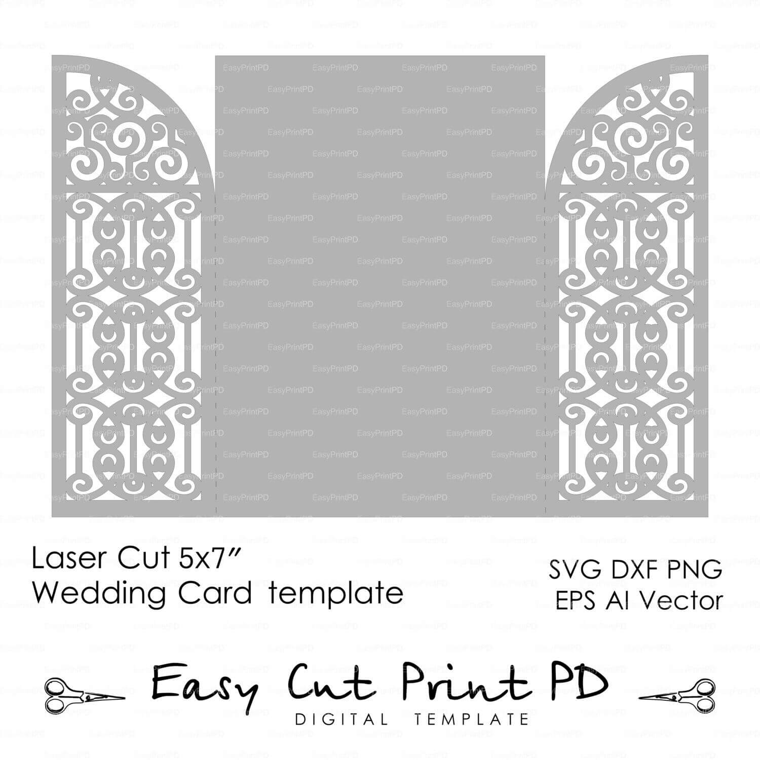 Pin On Silhouette – Cards In Silhouette Cameo Card Templates