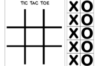 Pin On Tic Tac Toe Game Printables with regard to Tic Tac Toe Template Word