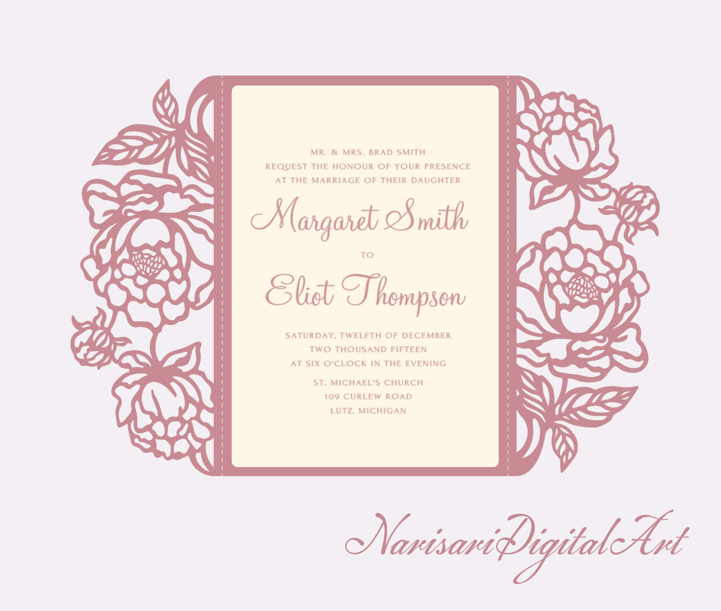 Pin On Wedding Favors Inside Silhouette Cameo Card Templates