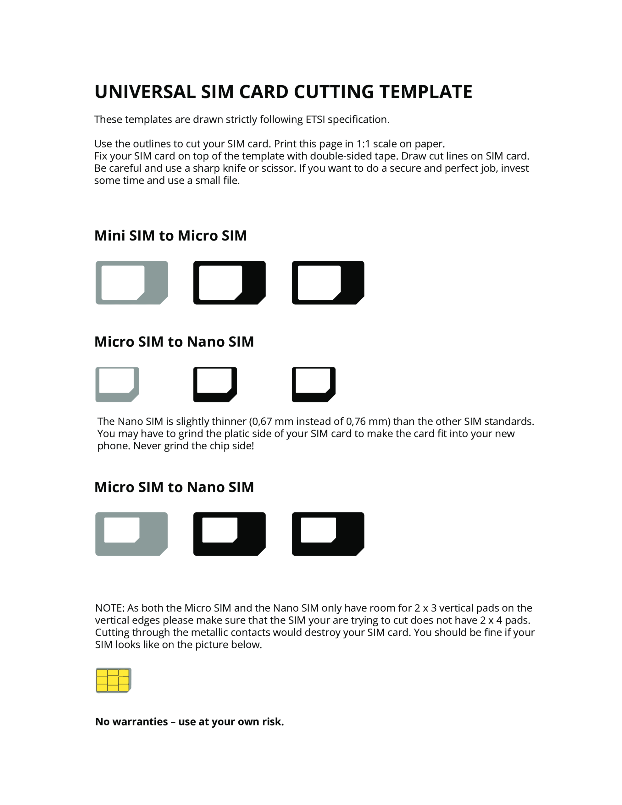 Pin Op Templates Intended For Sim Card Template Pdf