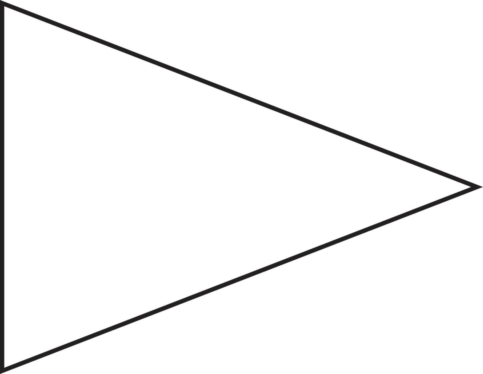 Pin Triangle Flag Outline Clip Art Vector Online Royalty Throughout Free Triangle Banner Template
