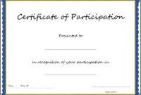 Pinangela Dziadzio On Certificates | Certificate Of for Certificate Of Participation Template Pdf