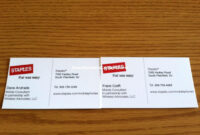 Pinanggunstore On Business Cards regarding Staples Business Card Template