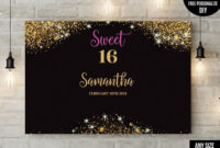 Pinargelia Figueroa On Birthday Party Ideas | Backdrops intended for Sweet 16 Banner Template