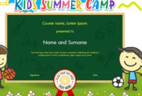 Pinbalmaguer On Campamento | Summer Camps For Kids intended for Summer Camp Certificate Template
