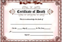 Pindeborah Ellis On Wizard Of Oz | Certificate Templates intended for Fake Death Certificate Template