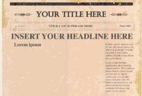 Pindollarcool On Ideas | Newspaper Template Word, Blank inside Old Blank Newspaper Template