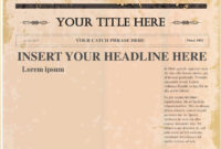 Pindollarcool On Ideas | Newspaper Template Word, Blank Throughout Blank Newspaper Template For Word