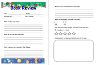 Pinjana Peek On Education | Book Review Template, Book within Book Report Template Grade 1